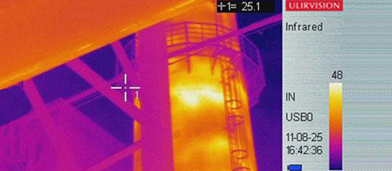 infrared thermal and imaging in iron industry